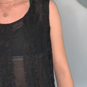 Urban Outfitters Tops - Sheer black tank